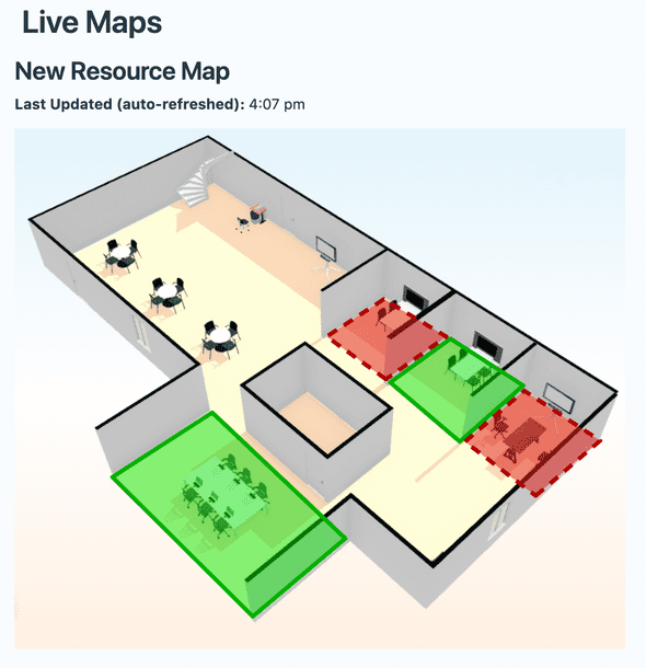 Live maps viewing mode